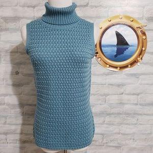 Lafayette 148 turquoise turtleneck wool sweater